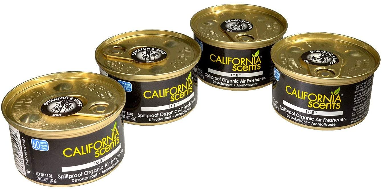 California Scents Air Freshener 4-Pack Car Air Freshener (Ice)