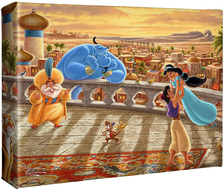 Thomas Kinkade Studios Jasmine Dancing in the Desert Sunset 8 x 10 Wrapped Canvas