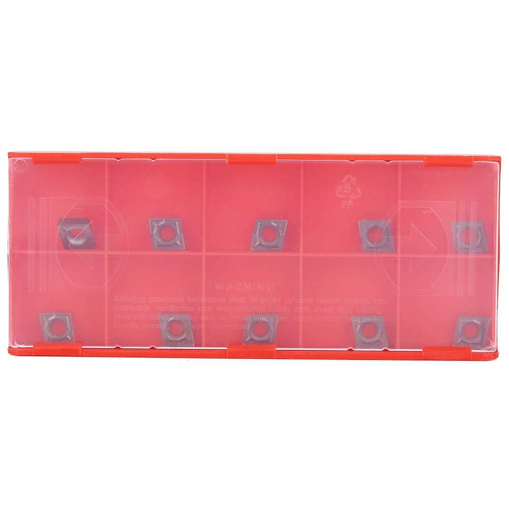 10Pcs CCMT060204 Carbide Lathe Turning Inserts Carbide Turning Inserts Set for SCLCR Turning Tool Holder