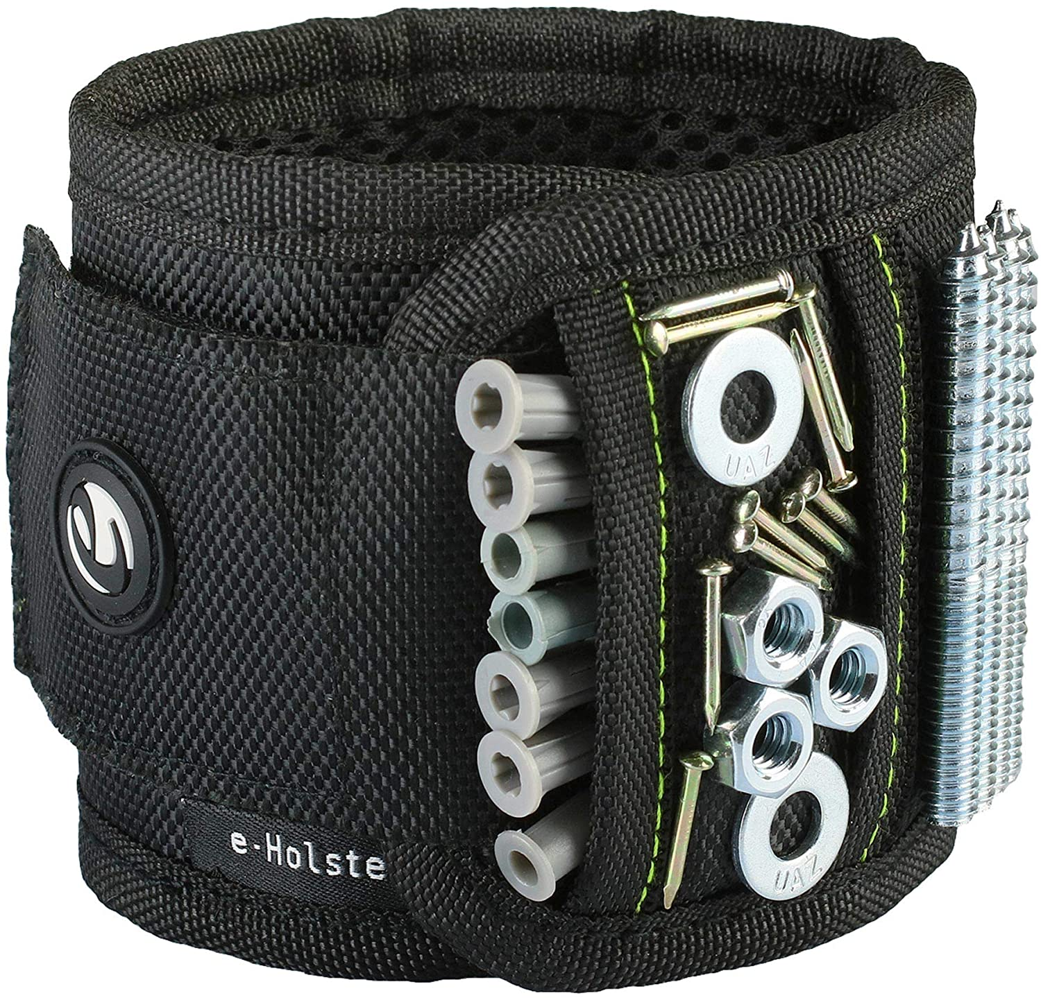 e-Holster Magnetic Wristband for Holding Screws, Nails, Drill Bits & Tools   Arm or Wrist Cuff Holder Magnet   Unique Gift for Husband, Father, Mechanic, Construction Worker, Handyman, DIY