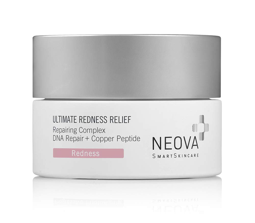 NEOVA SmartSkincare Ultimate Redness Relief calms and hydrates persistent or reactive redness conditions. Gentle enough for skin prone to Rosacea.