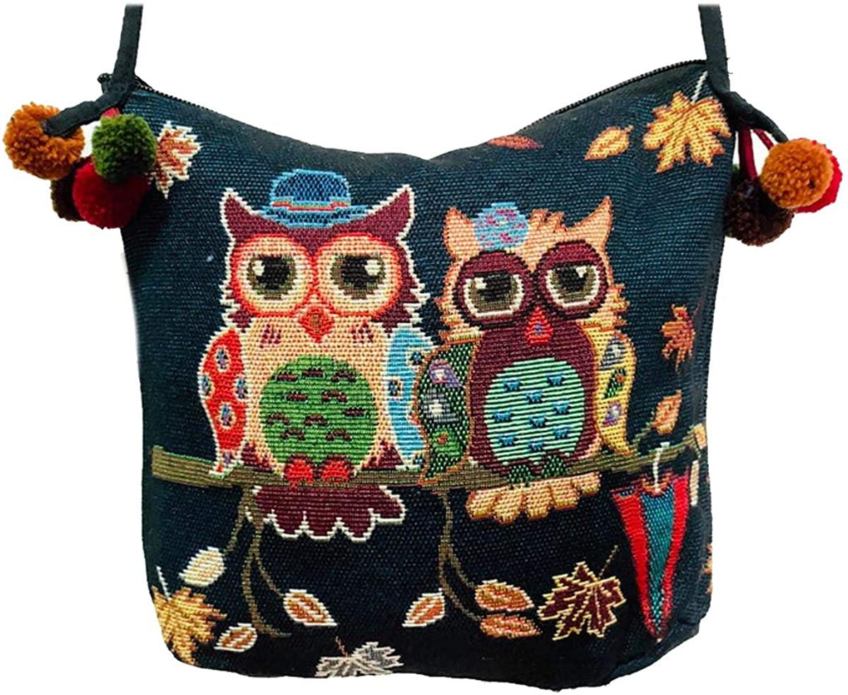 1PC Canvas Embroidery Crossbody Bag Handmade Bohemian Boho Shoulder Bag woman girl fashion gift collection Ba010