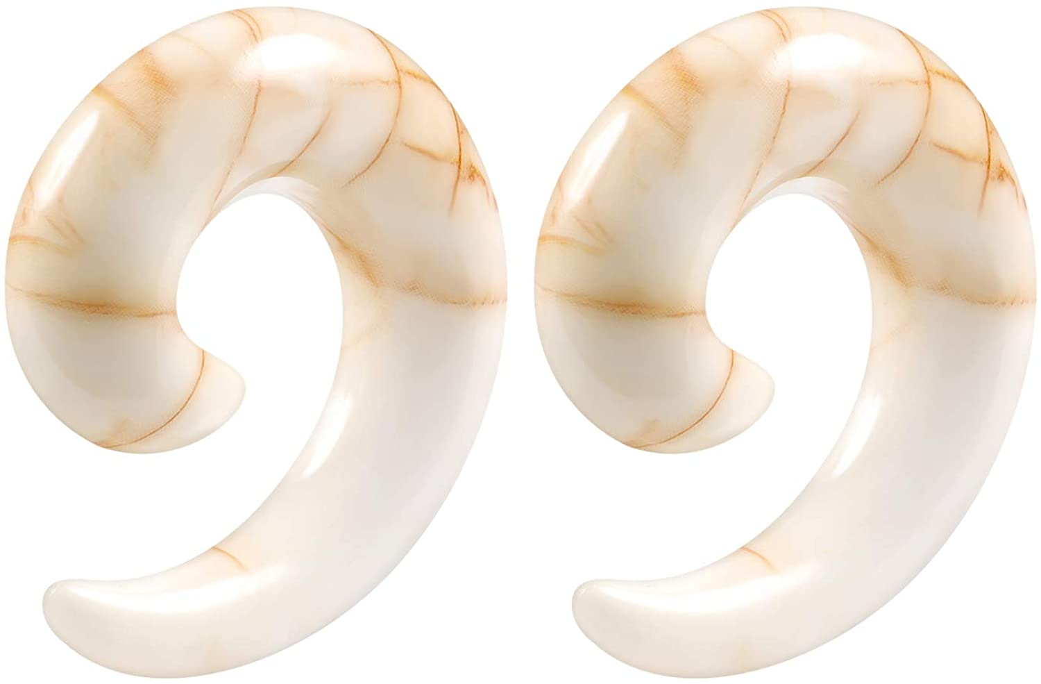 BIG GAUGES Pair of Acrylic Taper Spiral Piercing Jewelry Ear Plug Stretching Expander Taper Earring