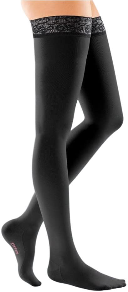 mediven Comfort, 30-40 mmHg, Thigh High Stockings w/Lace Top-Band, Closed Toe