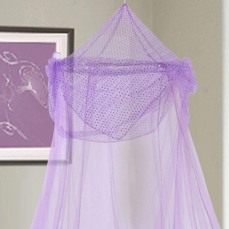 Epoch Hometex, Inc. Raisinette Kids Collapsible Hoop Sheer Bed Canopy Purple