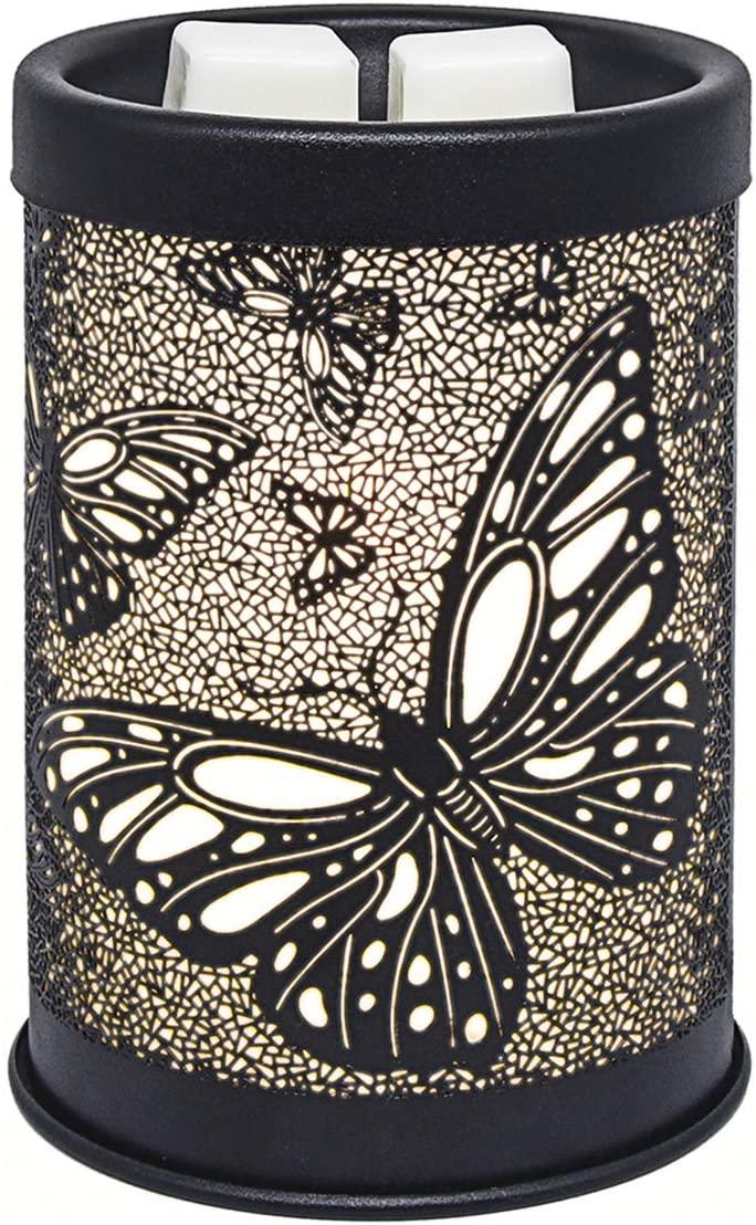 EQUSUPRO Metal Wax Melt Warmer Electric Wax Burner Melter Fragrance Warmer for Home Office Bedroom Living Room Gifts & Decor (Butterfly)