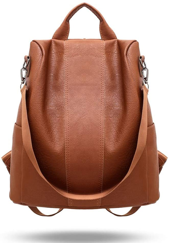 Woman Anti-Theft Backpack Bag Travel Backpack Casual Wild Soft Leather Dual-use Small Backpack Used to Store Mobile Phones, Wallets, Cosmetics and Other Items (brown)
