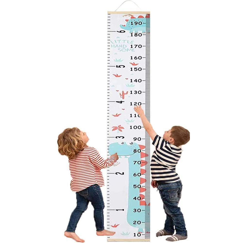 SAMTITY Baby Growth Height Chart, Canvas and Wood Growth Chart for Kids, Perfect Wall Decor Piece for Kids Room, Baby Room, Nursery, Bedroom, Height Measurement Ruler for Children