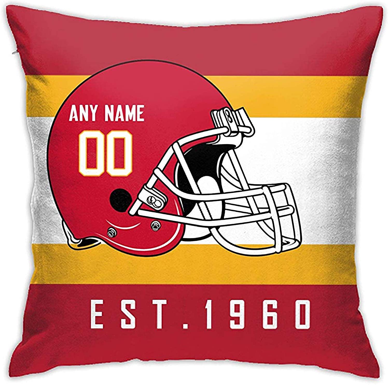 Sitanfo Custom Pillow Case Personalized Football Pillow Cover Kansas-City-Chiefs