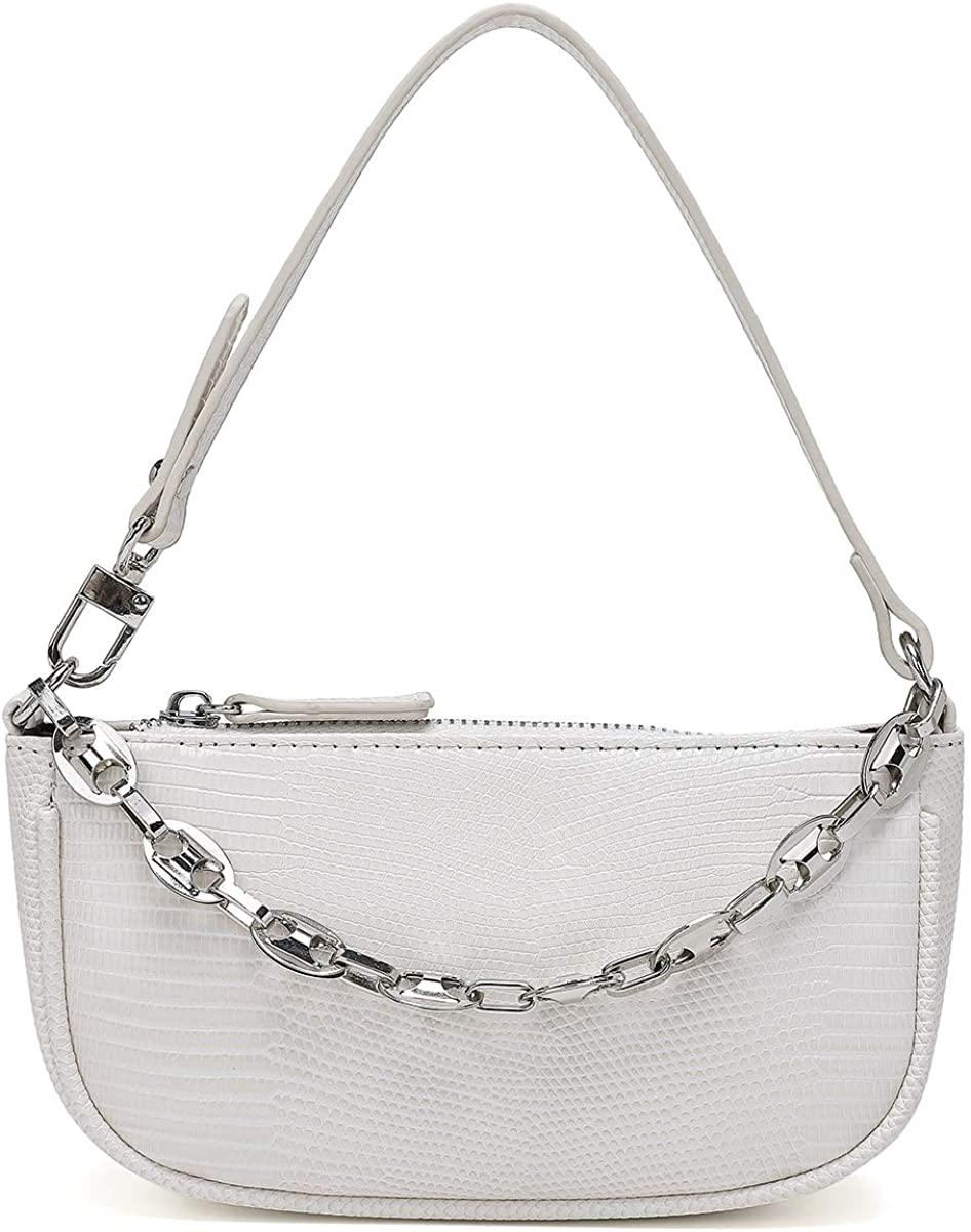 Retro Classic Small Lightweight Clutch Shoulder Purse Handbag Tote Bag with Zipper Closure for Women