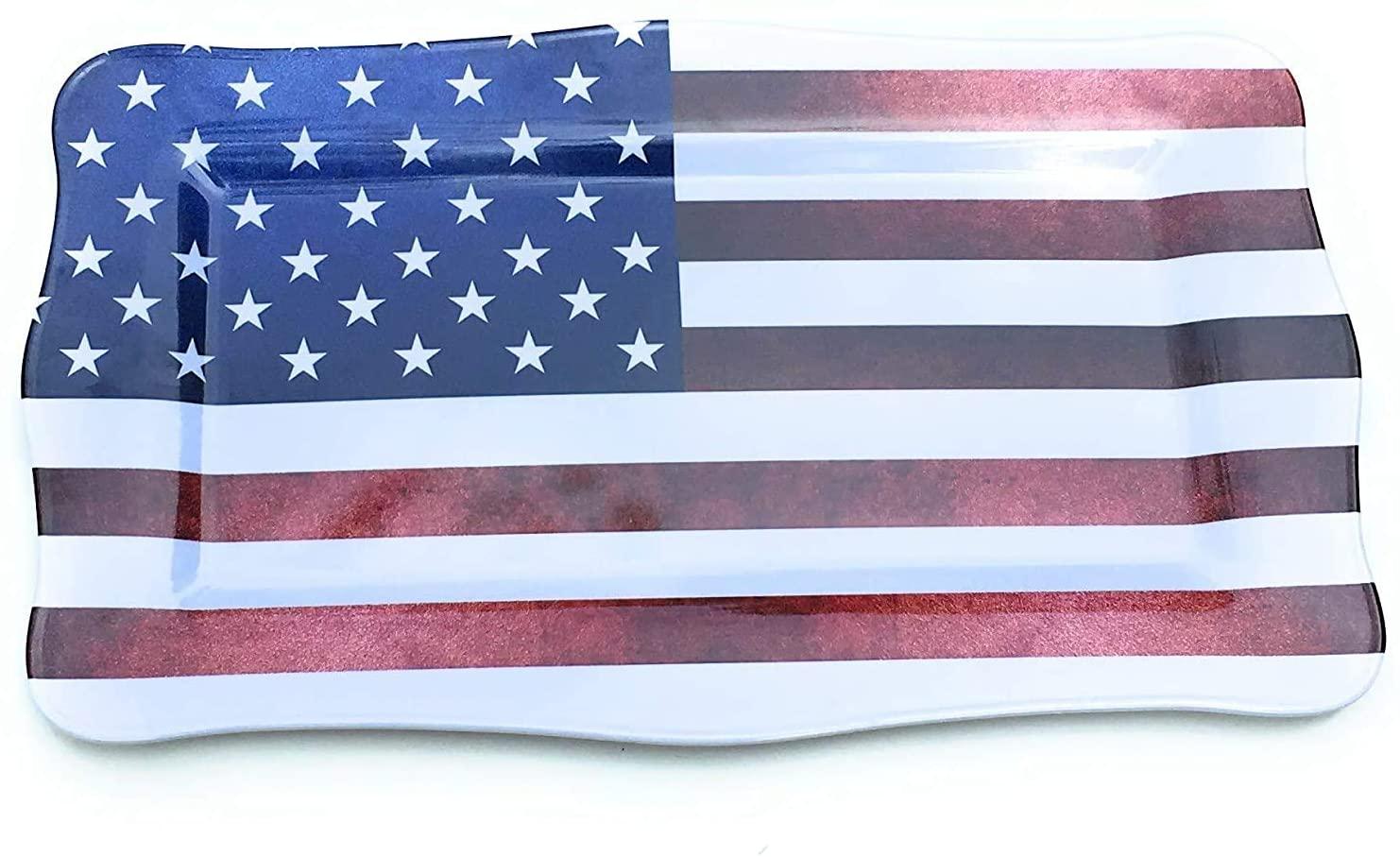 Rectangular Melamine Tray | 19 | Patriotic Collection | 1 Pc