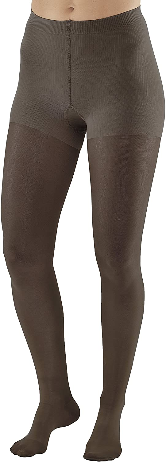 Ames Walker Women's AW Style 383 Signature Sheers Closed Toe Compression Pantyhose 30 40 mmHg Black Small 383 S Black Nylon/Spandex