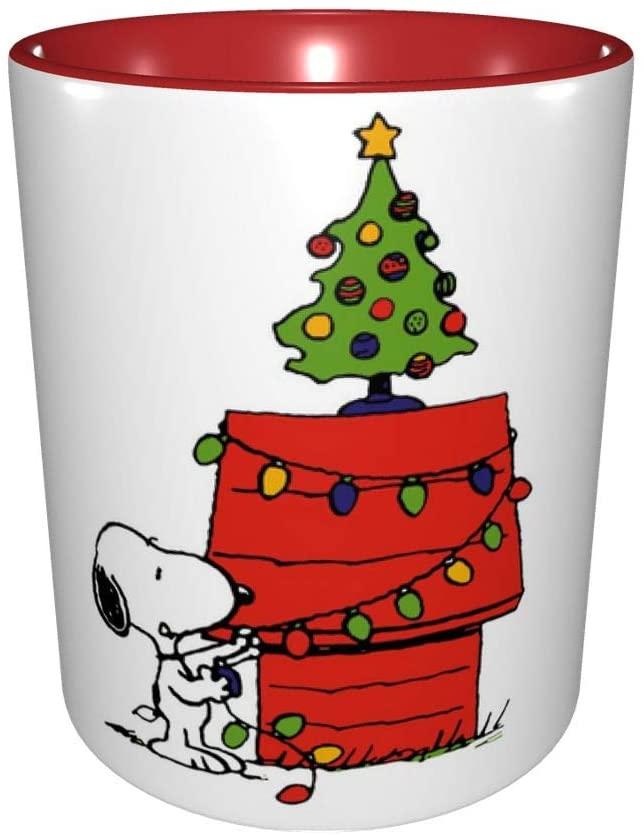 Merry Christmas Mug Christmas Sno-opy Lights Coffee Mug New Year Gifts Christmas Cup Christmas Gifts for Friends Men Women Father Mother Coffee Mugs for Christmas 11Oz