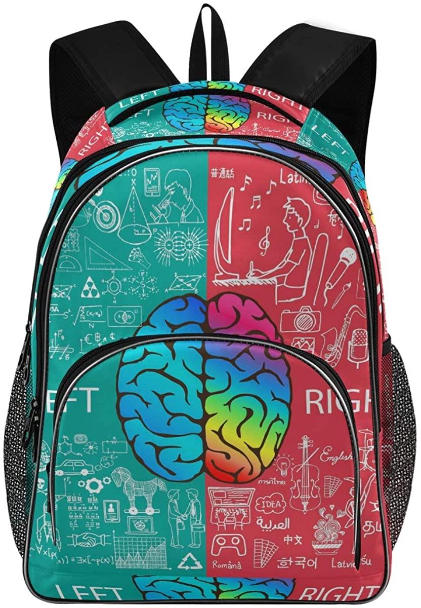 Brain New Backpack for School Teenagers Girls Boys Travel Bag(623q)