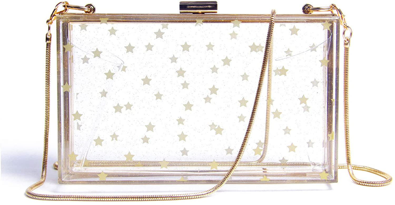 Lanpet Women Acrylic Transparent Evening Clutches Shoulder Bag Cross-Body Purse Party Bag