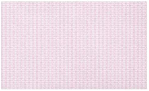 Lunarable Checkered Doormat, Romantic Tartan with Hearts Love Theme Pastel Girly Tones Princess Kids, Decorative Polyester Floor Mat with Non-Skid Backing, 30