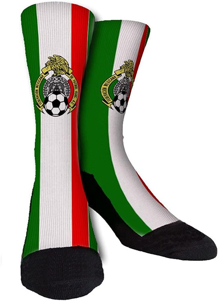Mexico World Soccer Unisex Casual Crew Socks
