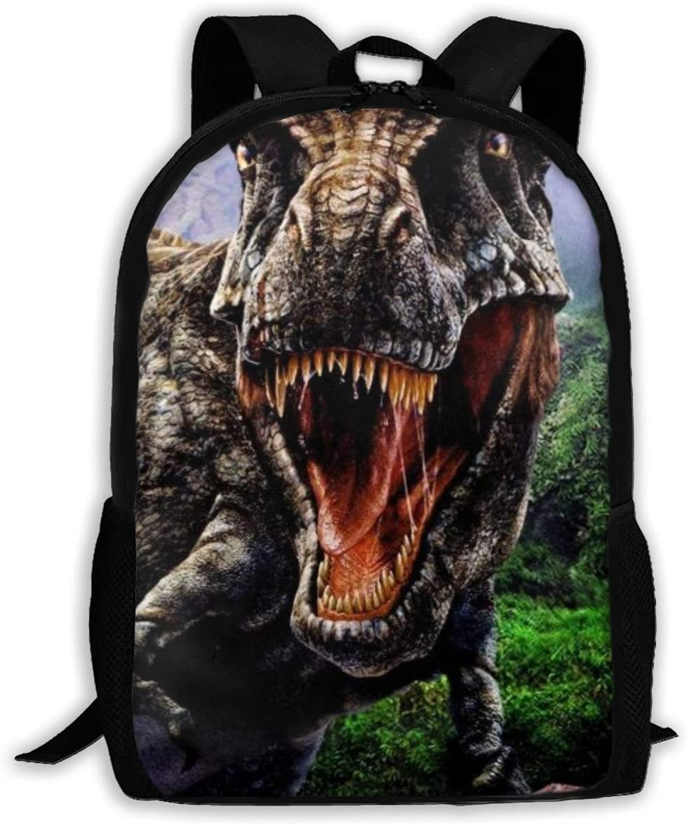 Roaring Dinosaurs Unique Outdoor Shoulders Bag Fabric Backpack Multipurpose Daypacks for Adult