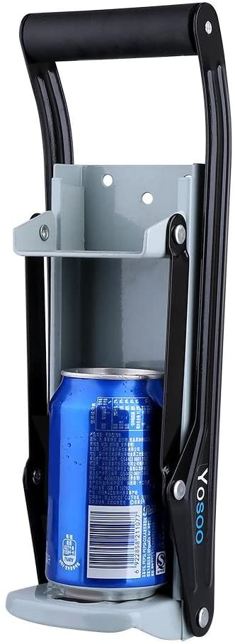 16 oz Metal Can Crusher Counter top Wall Mounted Home Dispensing Can Smasher Beer Soda Cans Crushing Recycling Tool