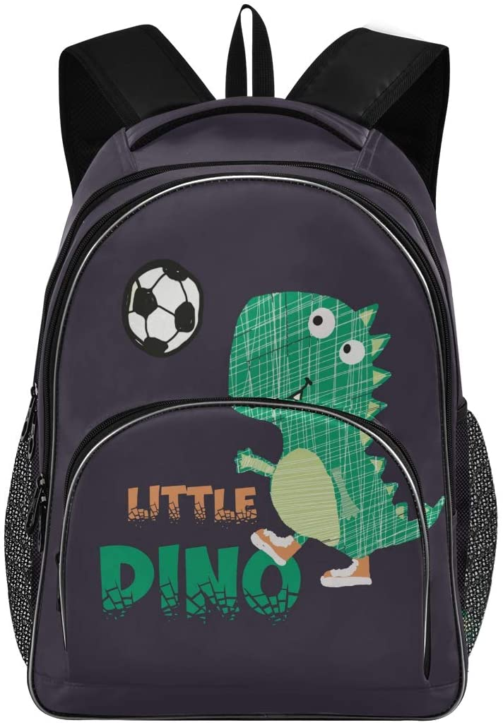 ALAZA Little Dino Slogans School Bag Casual Daypack Book Bags for Primary Junior High School