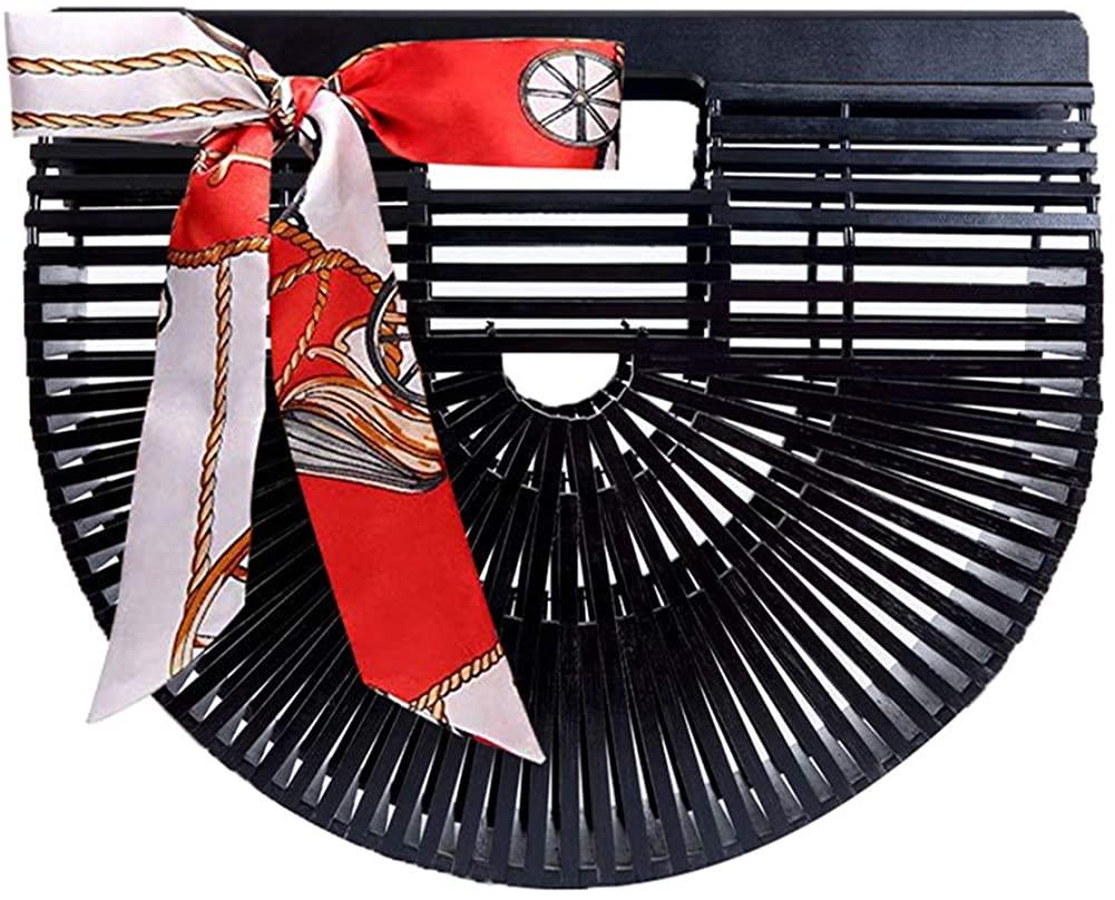 Obosoyo Womens Handmade Bamboo Handbag Summer Beach Sea Tote Bag