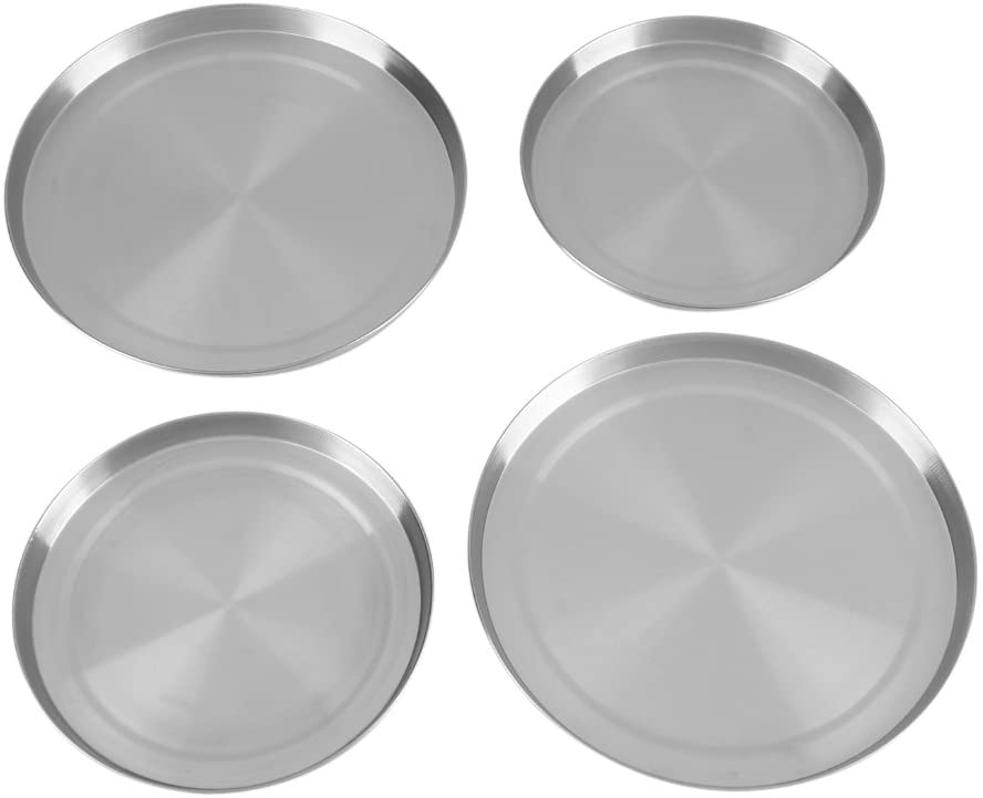 LetCart Stove Top Cover - 4Pcs/Set Stainless Steel Kitchen Stove Top Burner Covers Cooker Protection