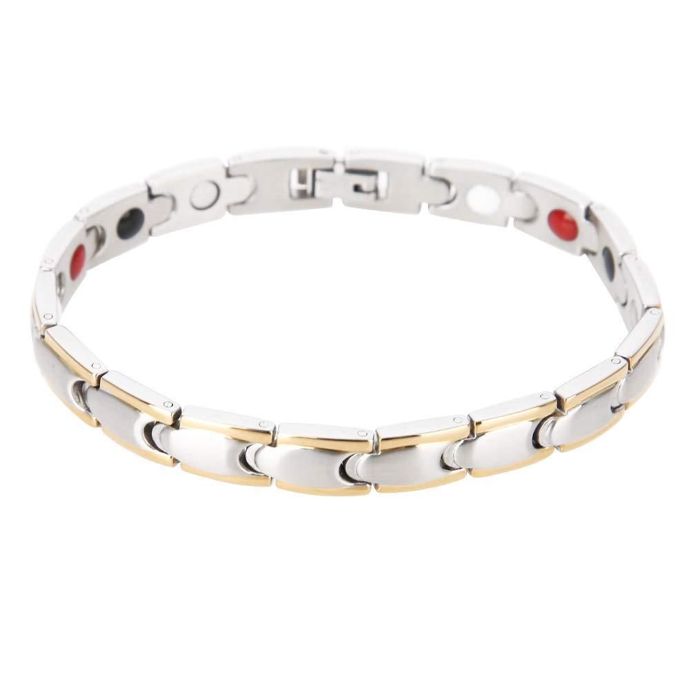 Male Fashionable Therapy Bracelet, Titanium Steel Magnetic Bracelet, Healing Bracelet for Men Therapy Bangle Health