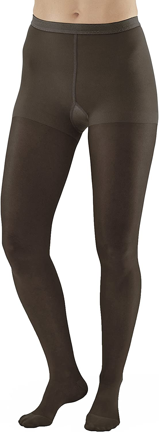 Ames Walker Women's AW Style 33 Sheer Support Closed Toe Compression Pantyhose 20 30 mmHg Black Small 33 S Black Nylon/Spandex