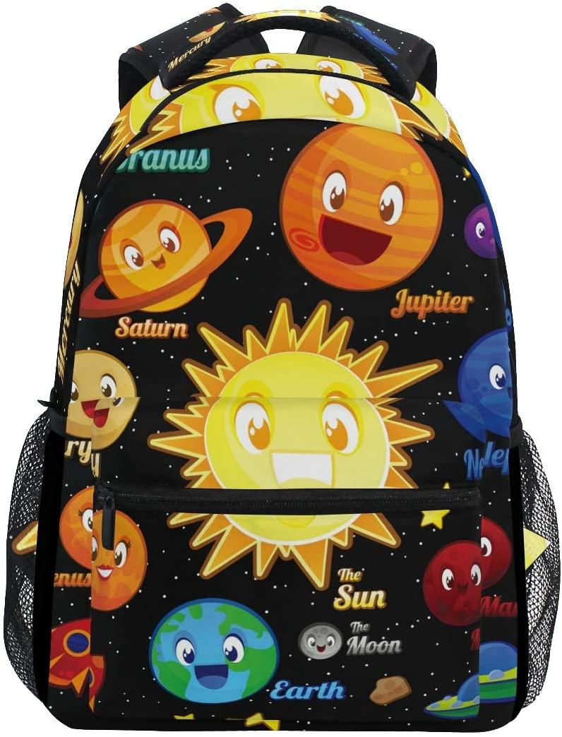 Planet Character Backpacks Travel Laptop Daypack School Bags for Teens Men Women