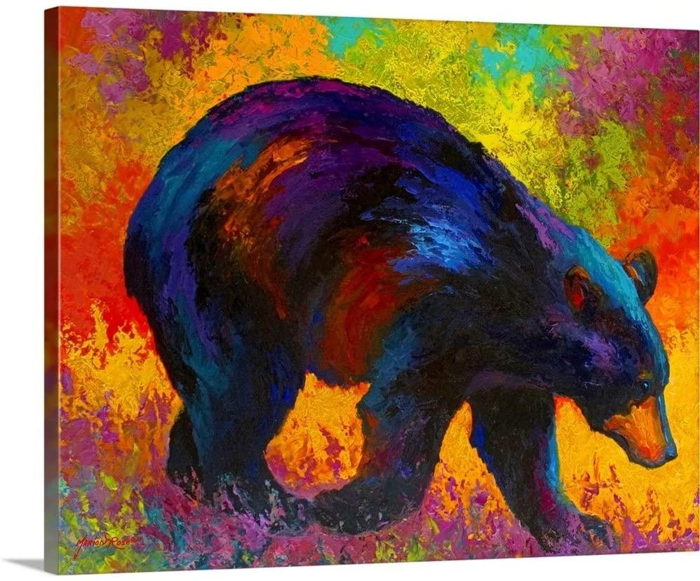 Roaming Black Bear Canvas Wall Art Print, 20
