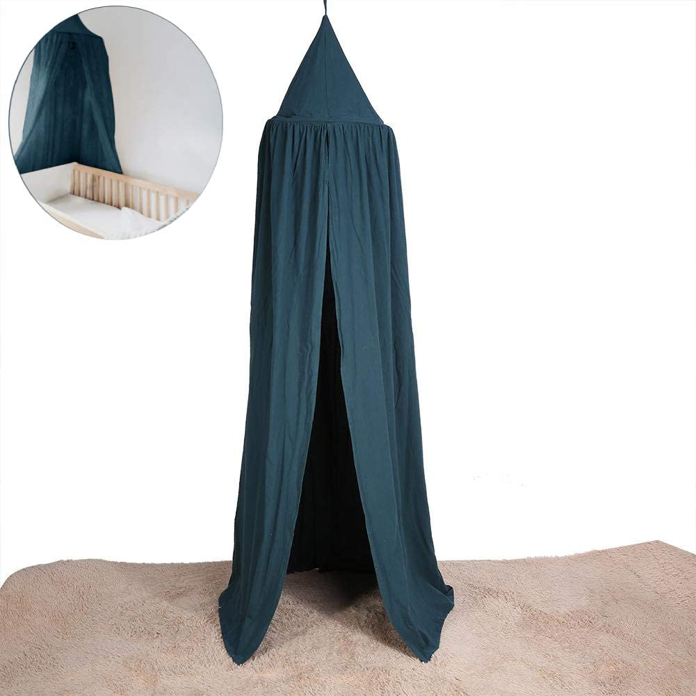 Yosoo Baby Bedding Round Dome Bed Canopy Kids Play Tent Hanging Mosquito Net Curtain for Baby Kids Reading Playing Sleeping Room Decoration, Dark Green