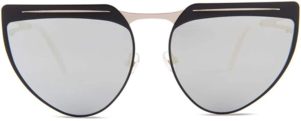 Irresistor Astro Cat Black/Silver Lens Mirror Sunglasses