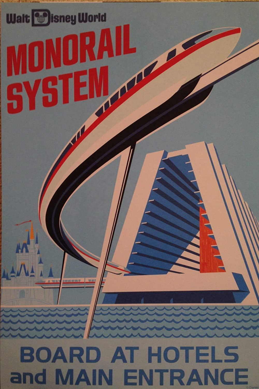 Walt Disney World's Monorail System Attraction Poster Art