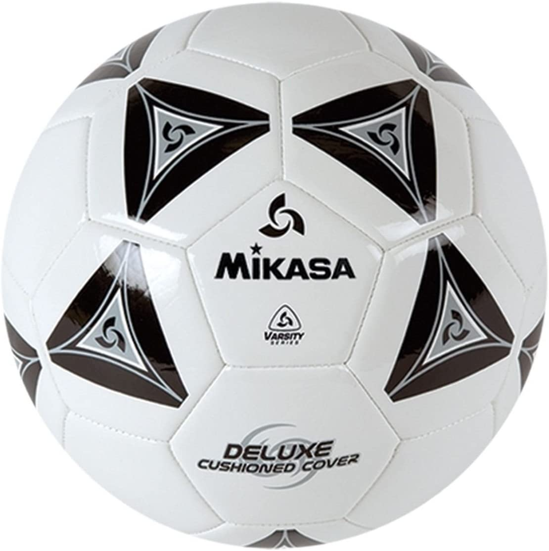 Mikasa Deluxe Soccer Football 2 Ply Butyl Bladderl Ball Size 5 White with Black