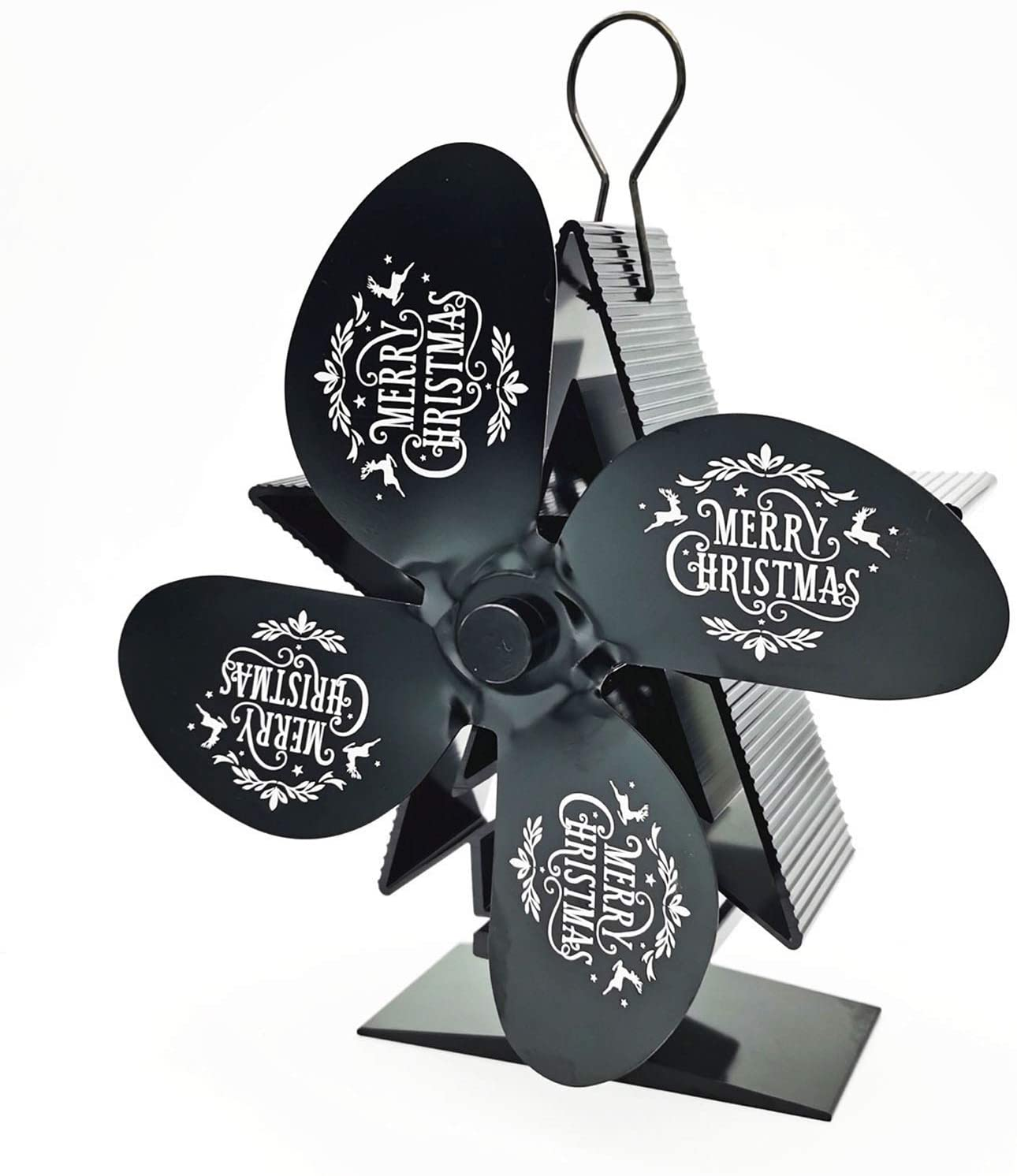 Midress Christmas Heat Powered Stove Fan, Upgrade Designed 4 Blades for Wood/Log Burner/Fireplace-Eco Friendly and Efficient Heat Distribution