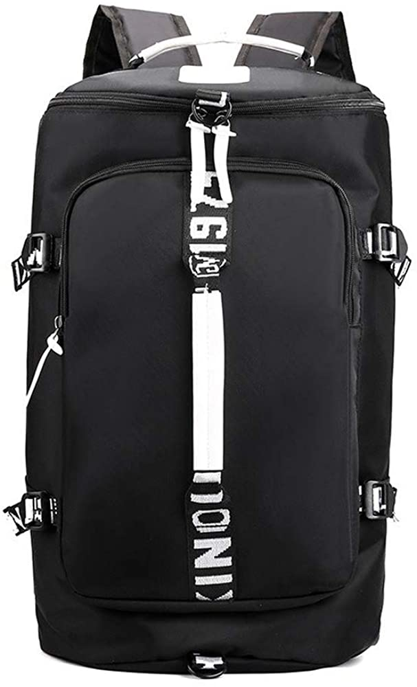 YANSHU Large-Capacity Backpack, Leisure Travel Bag, Simple and Lightweight Fitness Bag, Men and Women Climbing Bag