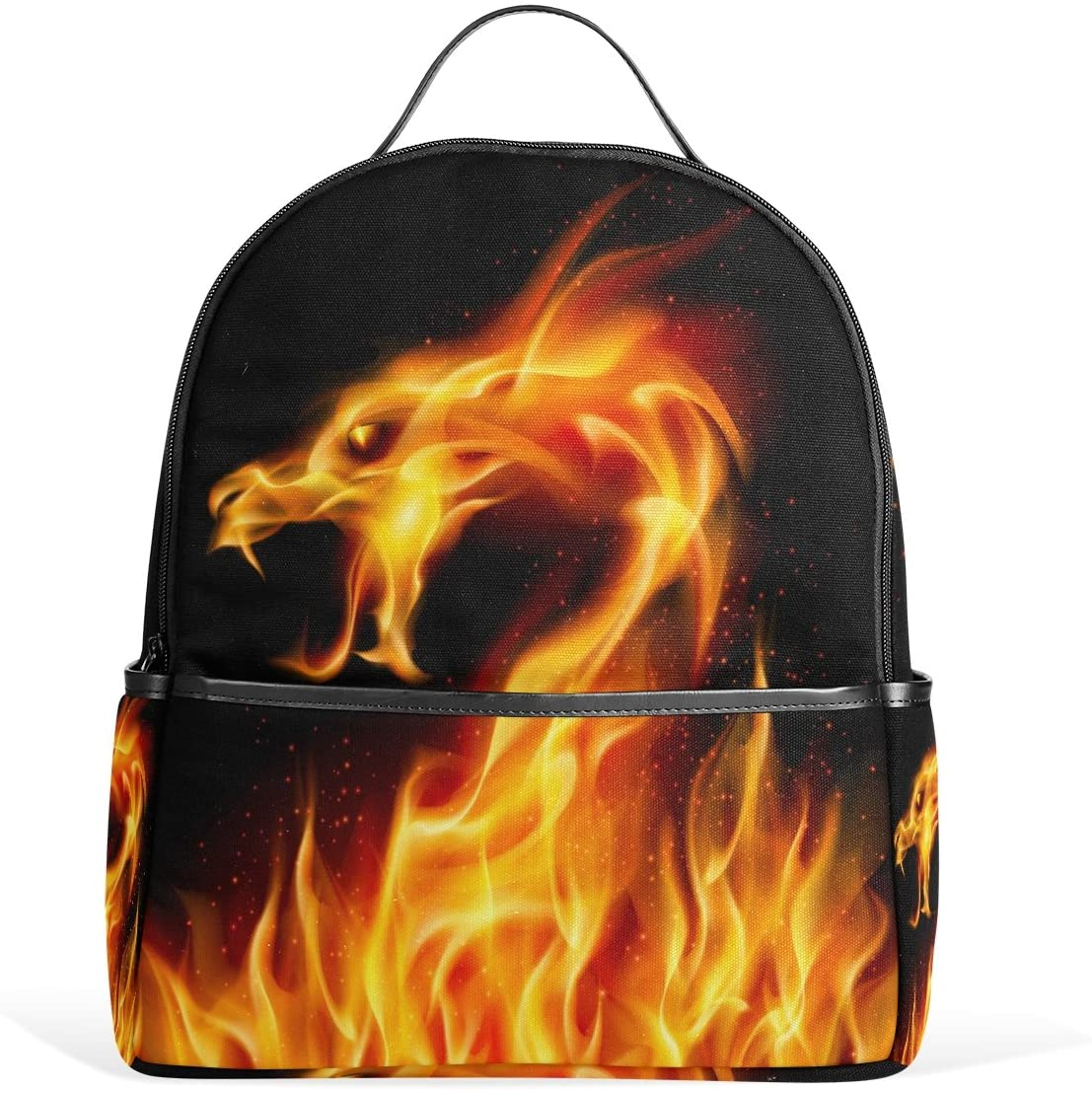 Use4 Fire Dragon Polyester Backpack School Travel Bag