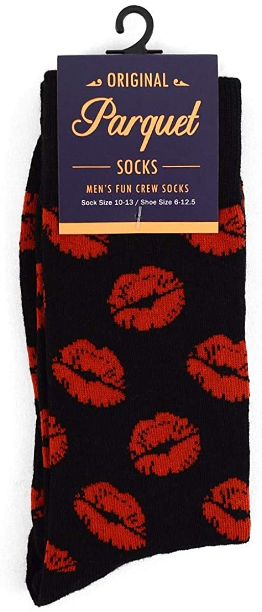 Men's Colorful Fun Cotton Dress Casual Novelty Crew Socks for Men Crazy Sports Food Career Designs