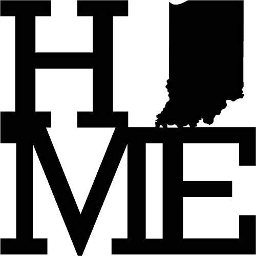 Home State Indiana Raw Metal Wall Art, Home Decor