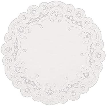 SAFEPRO 6LD, 6-Inch White Round Lace Paper Doilies, Doily Table Covers, Wedding Tea Desserts Tableware Decoration (100)