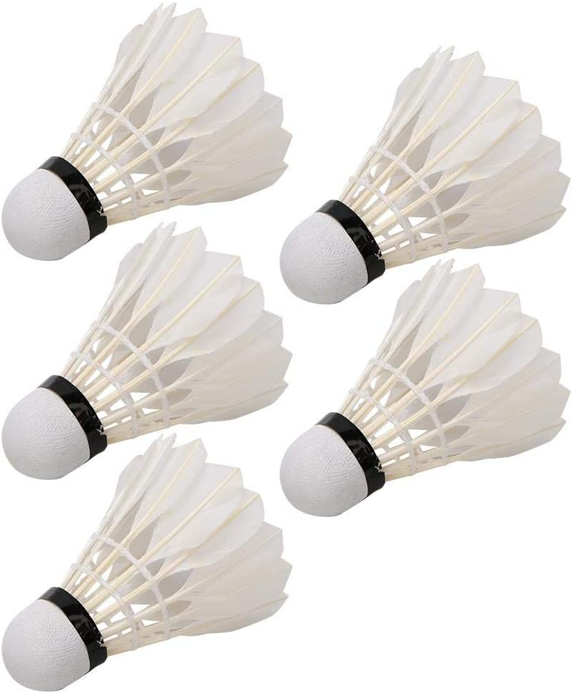 Yencoly 5PCS Duck Feather Badminton, Shuttlecocks with Great Stability and Durability, for Outdoor/Indoor Training