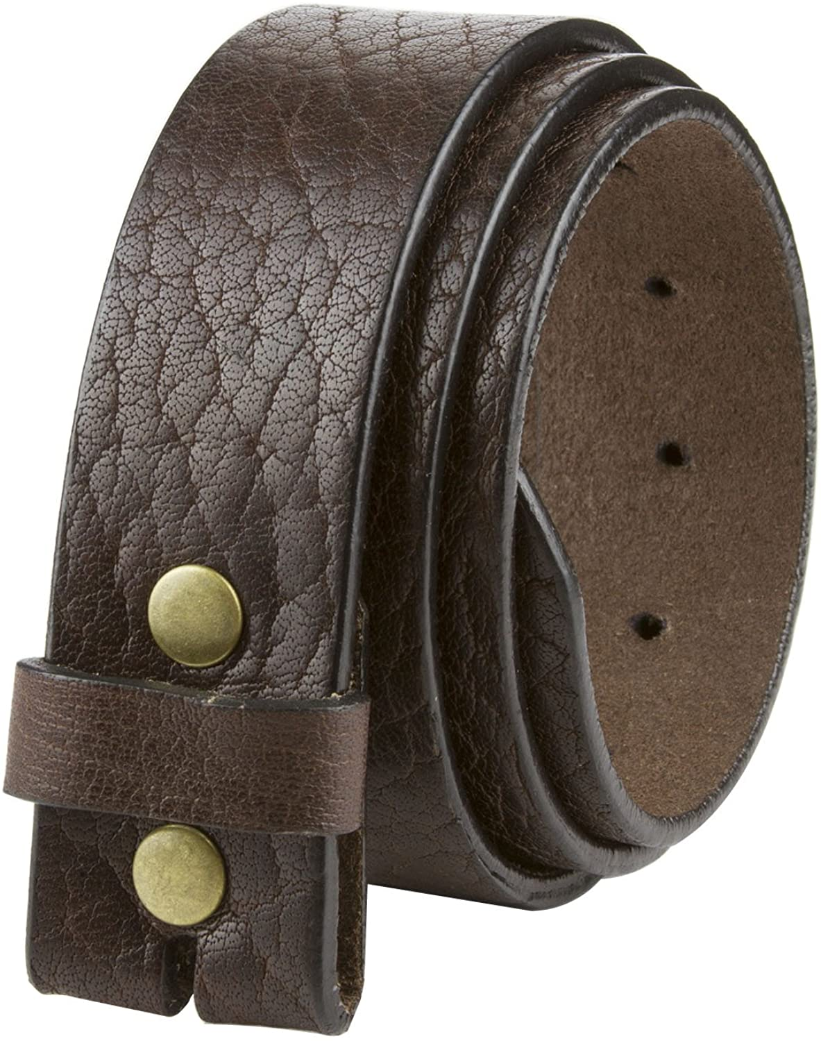 LEJON Casual One Piece Full Grain Vintage Leather Belt Strap Made in USA 1 1/2