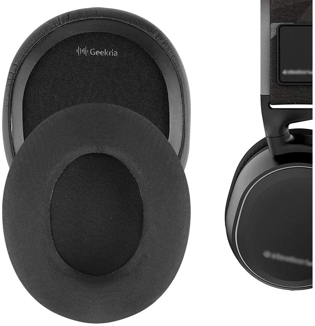 Geekria Sport Cooling-Gel Ear Pads for SteelSeries Arctis 3 Arctis 5 Arctis 7 Arctis 9X Arctis PRO Headphone Ear Pad/Ear Cushion/Ear Cups/Ear Cover/Earpads Repair Parts (Black)