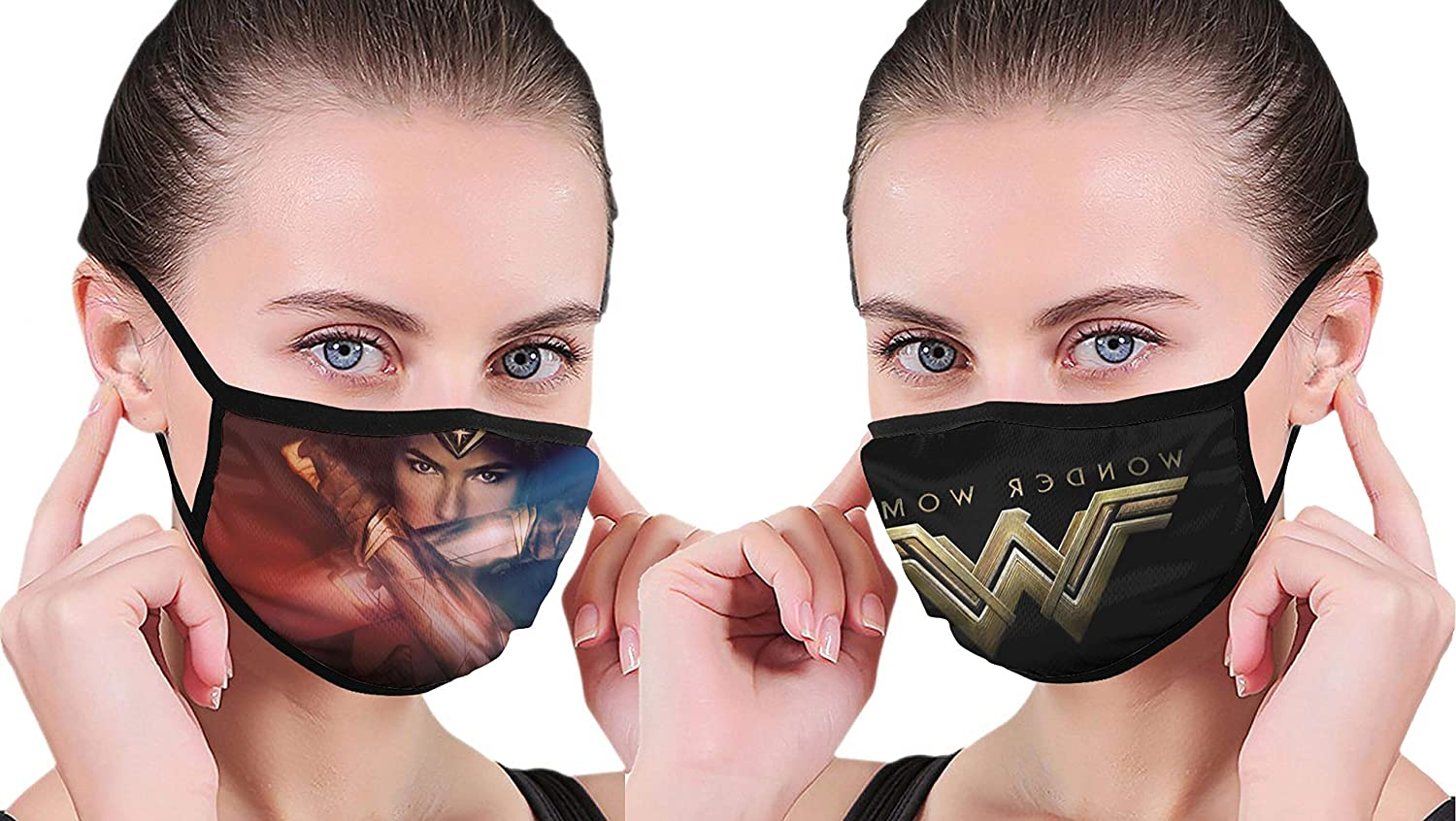 2PCS Super Hero wOnDeR Seamless Dust Cover Washable Face Cover Reusable Scarf