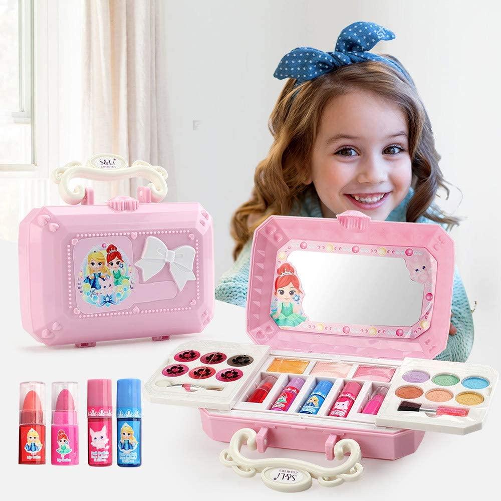 Lemoning Education Toys, Children Make-Up Set Play Home Children Cosmetic Toys Hair Accessories Girls