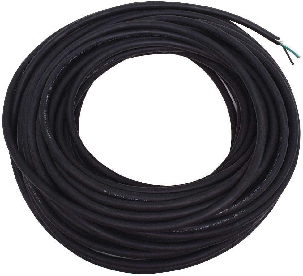 100 ft. Portable Cord; Conductors: 3, Wire Size: 18 AWG, Jacket Type: SOOW, Jacket Color: Black
