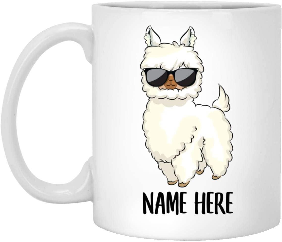Funny Llama Personalized Name Christmas Coffee Mug White 11 Oz