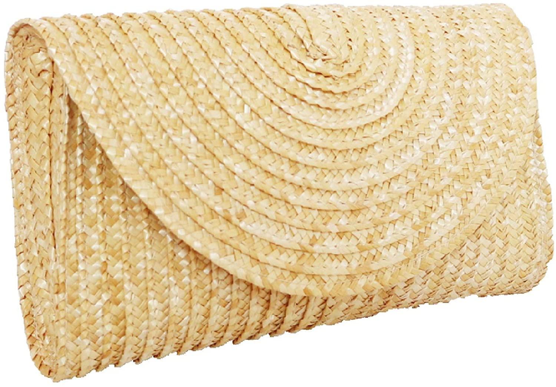 SUNCHOYEER Straw Clutch Purse for women Bohemia Evening Bags Summer Beach Rattan Woven Envelope Handbag