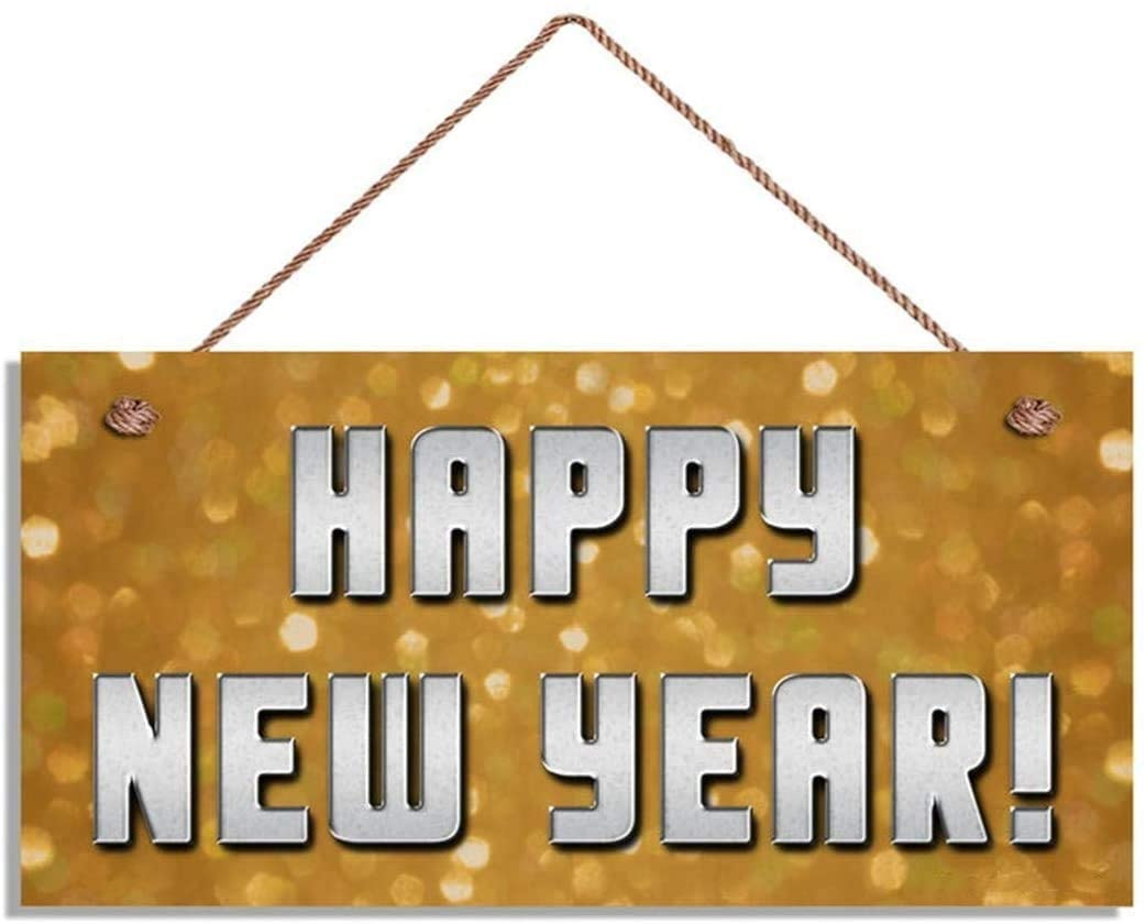 Happy New Year Sign, Sparkly Lights Holiday Sign, 10x5 Sign, House Gift, New Year Party Decor, New Years(ZY1019)