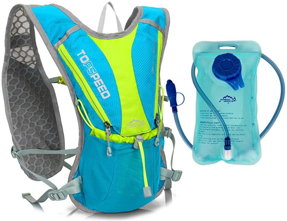 BenU Bike Hydration Backpack Cycling Rucksack Water Resistant 5L Capacity Mini Hiking Daypacks with 1L Water Bladder